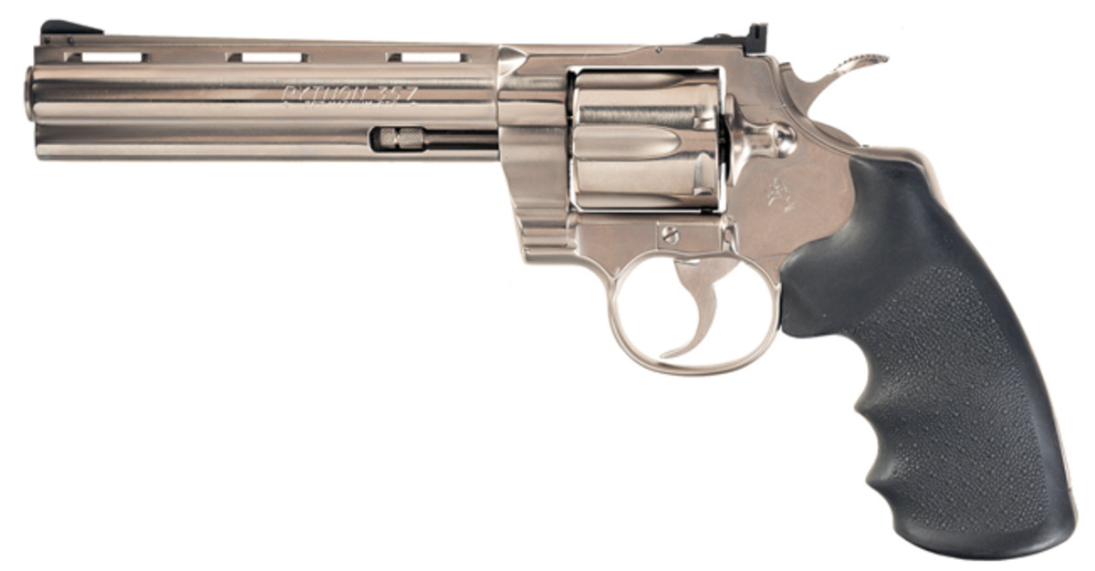 Nickel Plated Colt Python Double Action Revolver