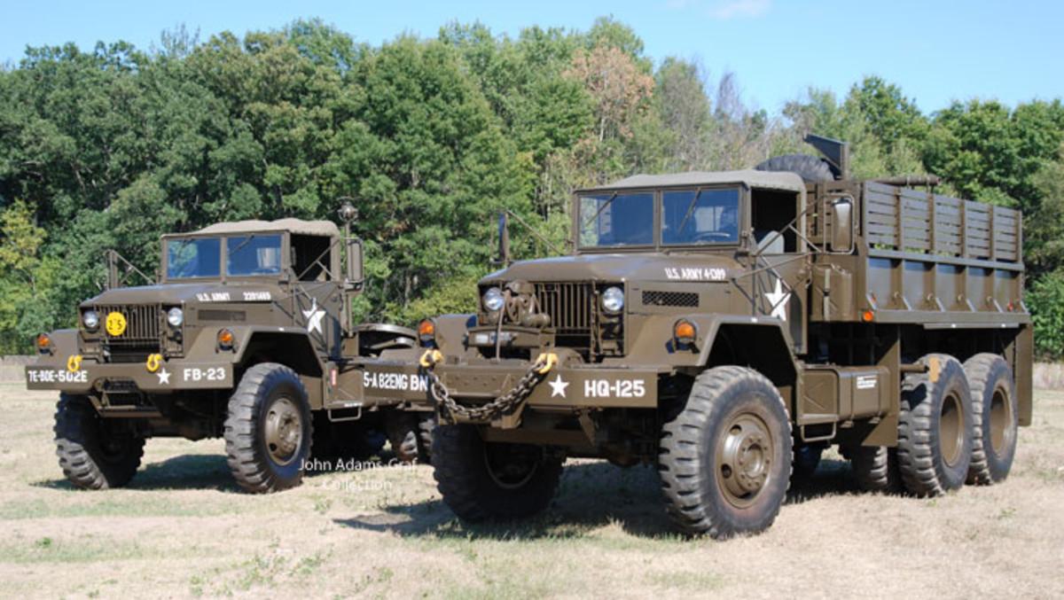 20 tons = Mark Austin's 1970 10-ton M123A1C Tractor + his 10-ton 1958 M125 6x6 Cargo.