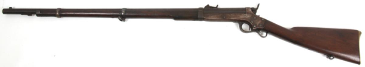 Rare Sharps & Hankins (Philadelphia) model 1861 Navy rifle with 32 ½ inch long round barrel (est. $2,500-$3,500).