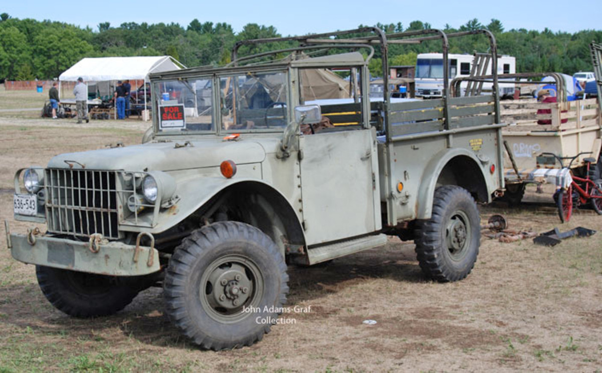 "There are always several ""barn-fresh"" vehicles that show up at the Iola Show. Al Hansel brought this M37 from Minnesota and offered it for sale."