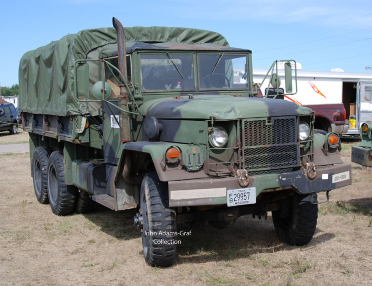"The Iola, Wisconsin, MV Show is really evolving into a ""big truck"" show. I will note, though, not a lot of owner name are listed on the vehicles, so i am at a loss to let you know who owns this M35 (and many other photos below!)"