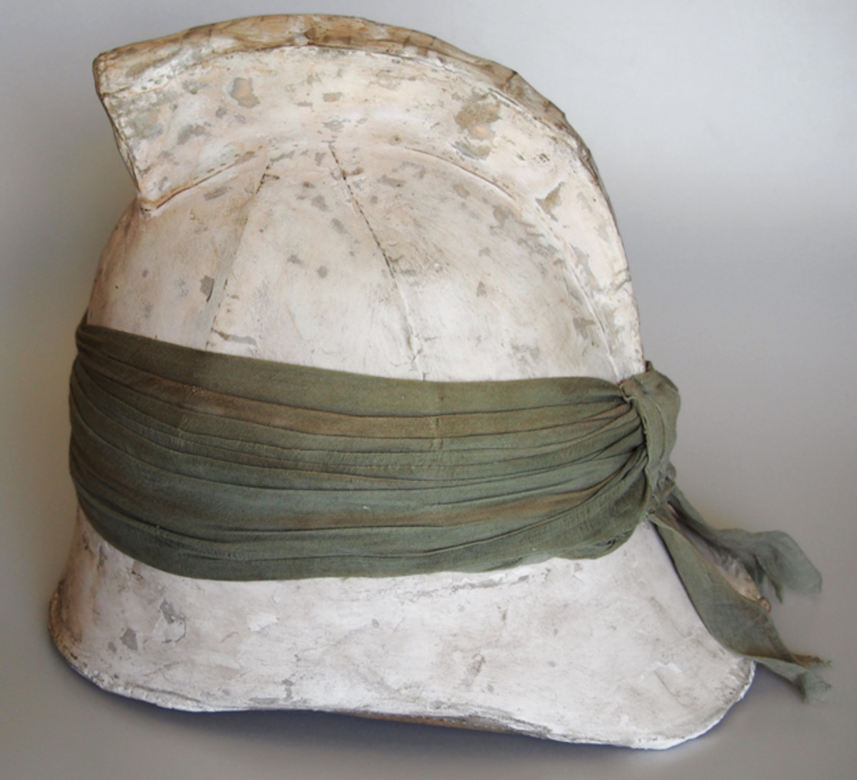 """The Ellwood & Sons' """"Roman Air Tube"""" helmet was meant to evoke the helmets worn by warriors in the Classical Age."""
