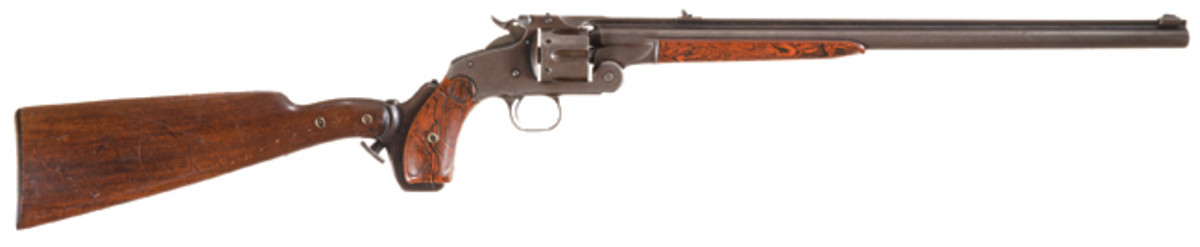 LOT2565- Rare Smith & Wesson Model 320 Revolving Rifle with Stock and Factory Letter