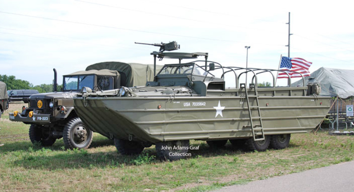 Don Meinhardt exhibited several vehicles including his very swimmable WWII DUKW.