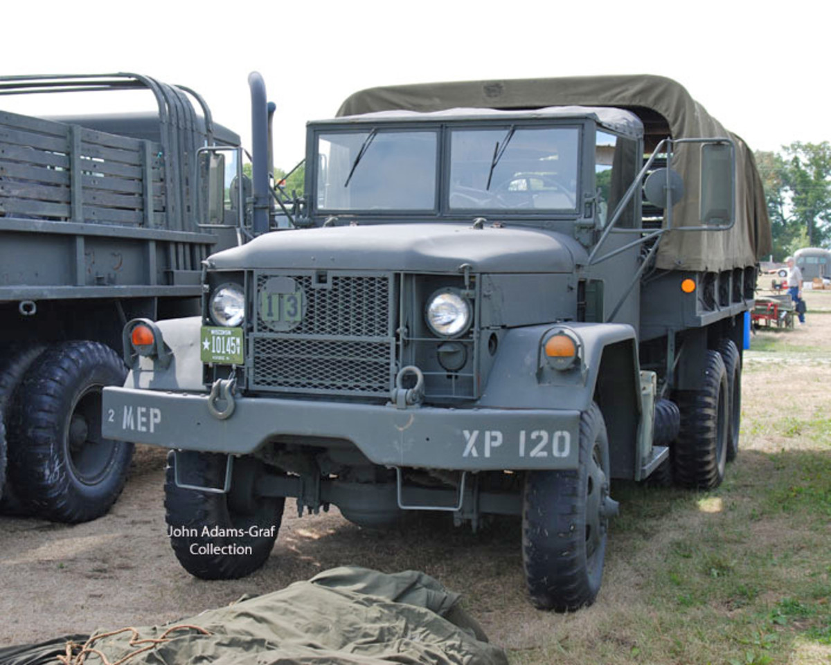 Dale and Myles Bowden had several vehicles at the show including this M35A2.