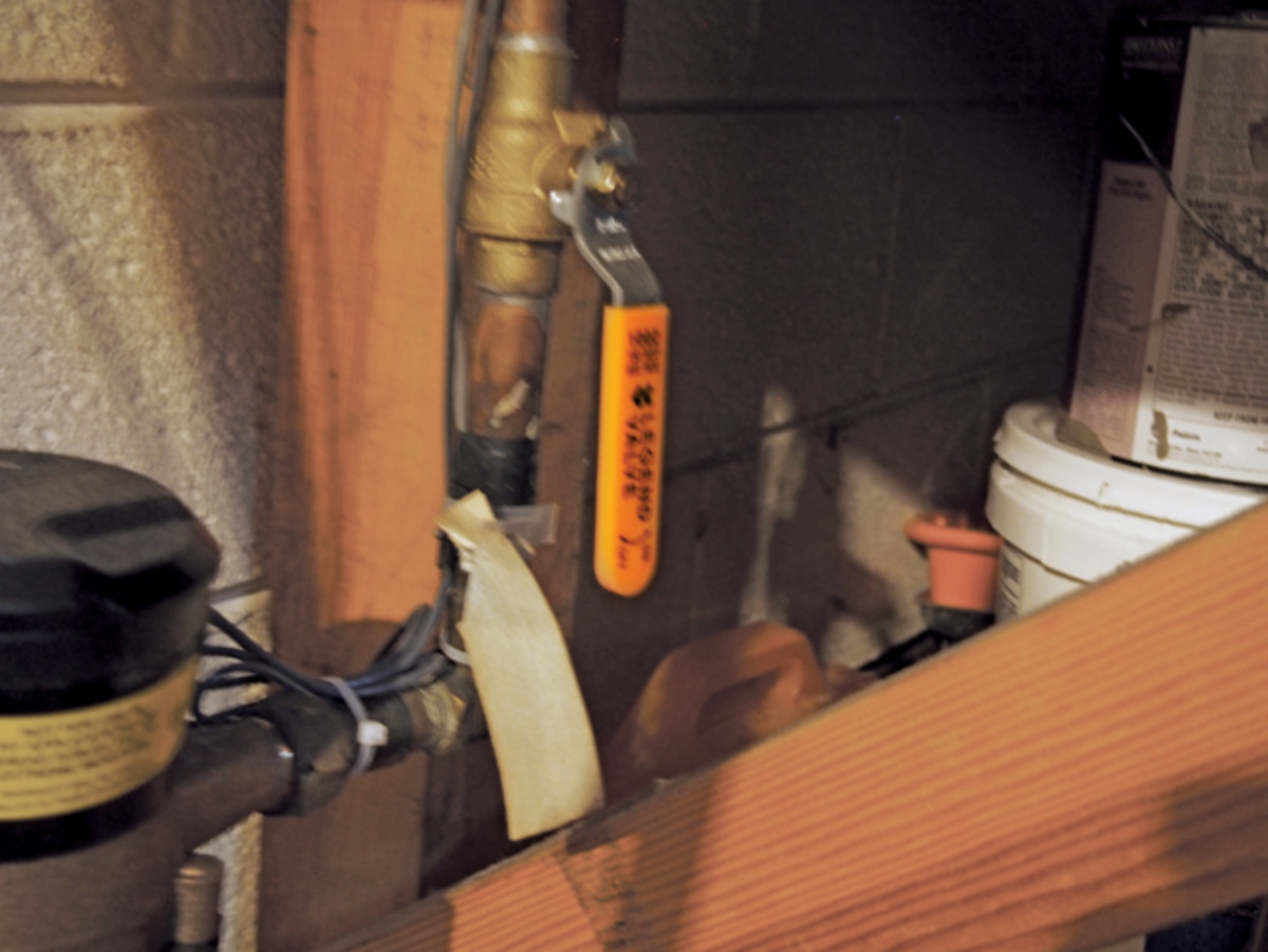 Knowing where the whole-house shut-off valve ­— and making sure it works — is a good idea.