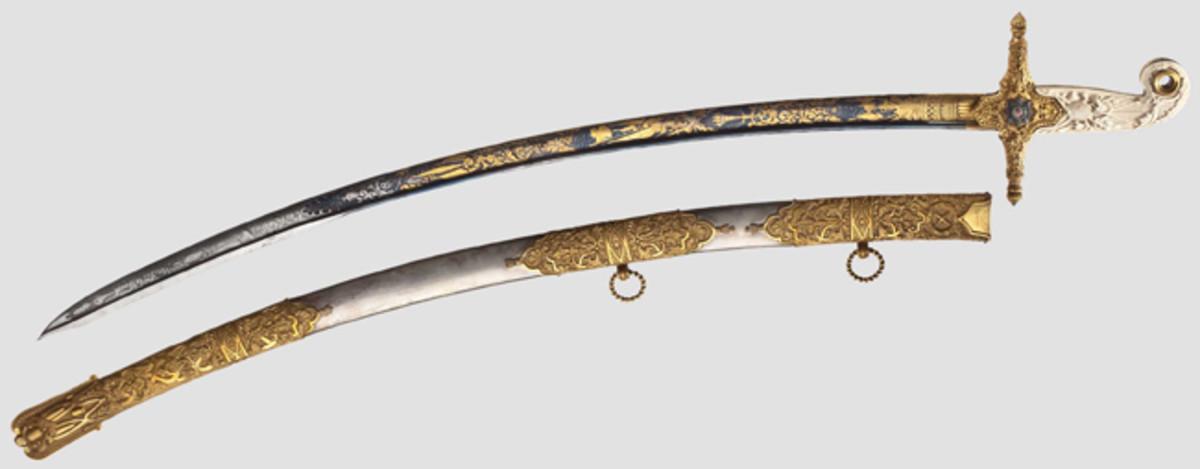 Generalmajor Georg Baron von Krauchenberg - a presentation sabre, 1843 HP: 52000 Euros