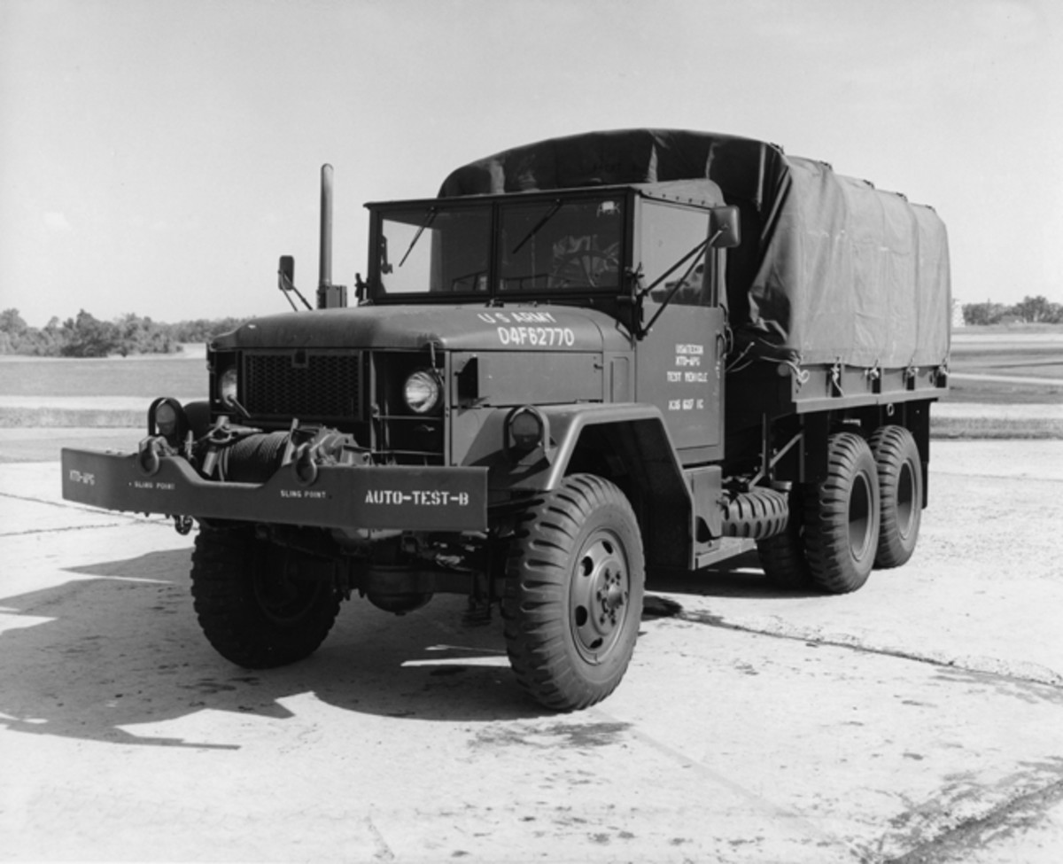 From 1968 into 1972 the last vehicle's year model was incorporated as the last two digits of the registration number. In the case of this new 1970 naturally aspirated M35A2 being tested at Aberdeen Proving Ground.