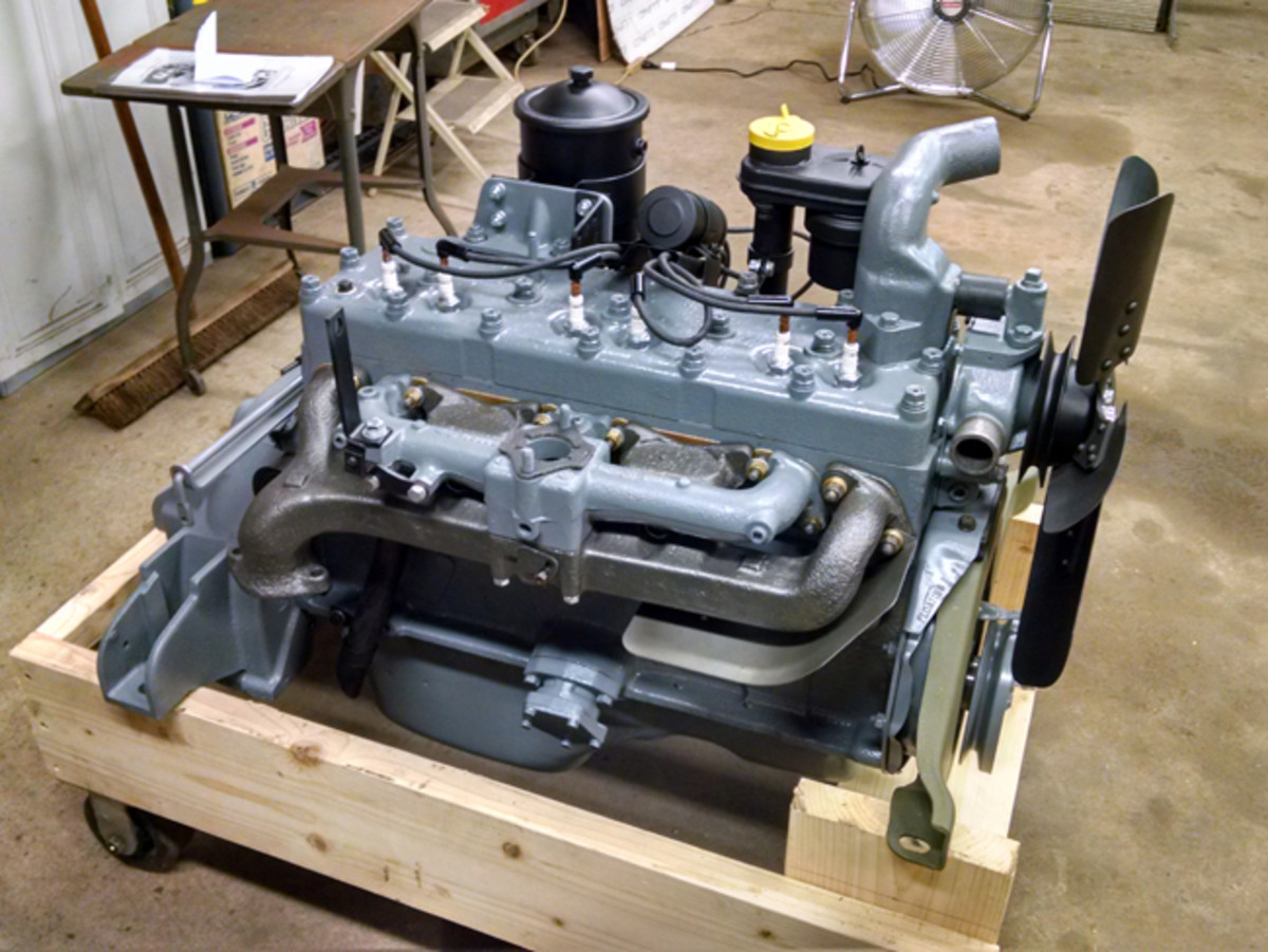 The long block that came with the truck built up into a nice looking engine. The engine will go on display in our museum until we find a suitable truck.