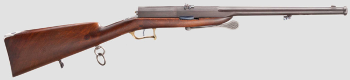 Needle-fire carbine, 1865, unusual test weapon in outstanding condition. HP: 11500 Euros