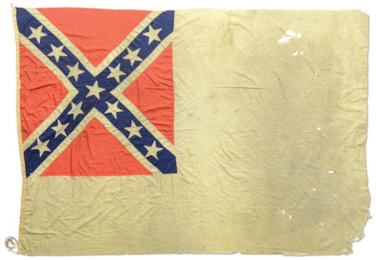 CONFEDERATE 2ND NATIONAL NAVAL FLAG