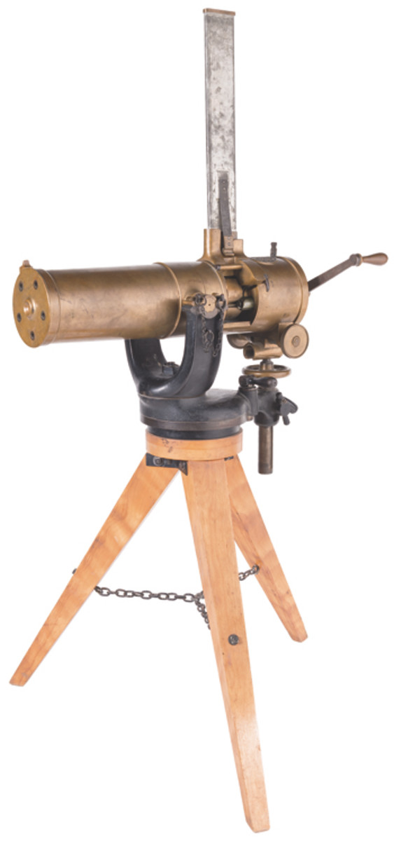 "U.S. Army Colt Model 1877 ""Bulldog"" Gatling Gun with Tripod"