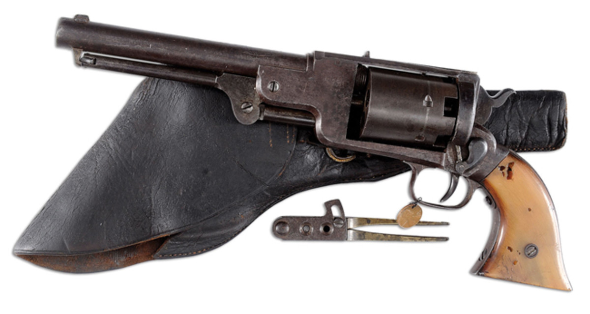 "Lot 2203 The Bryan Collection includes a complete set of all the known Confederate Texas made revolvers. This is the only surviving specimen of a ""Sisterdale Texas"" Dragoon Army Revolver."