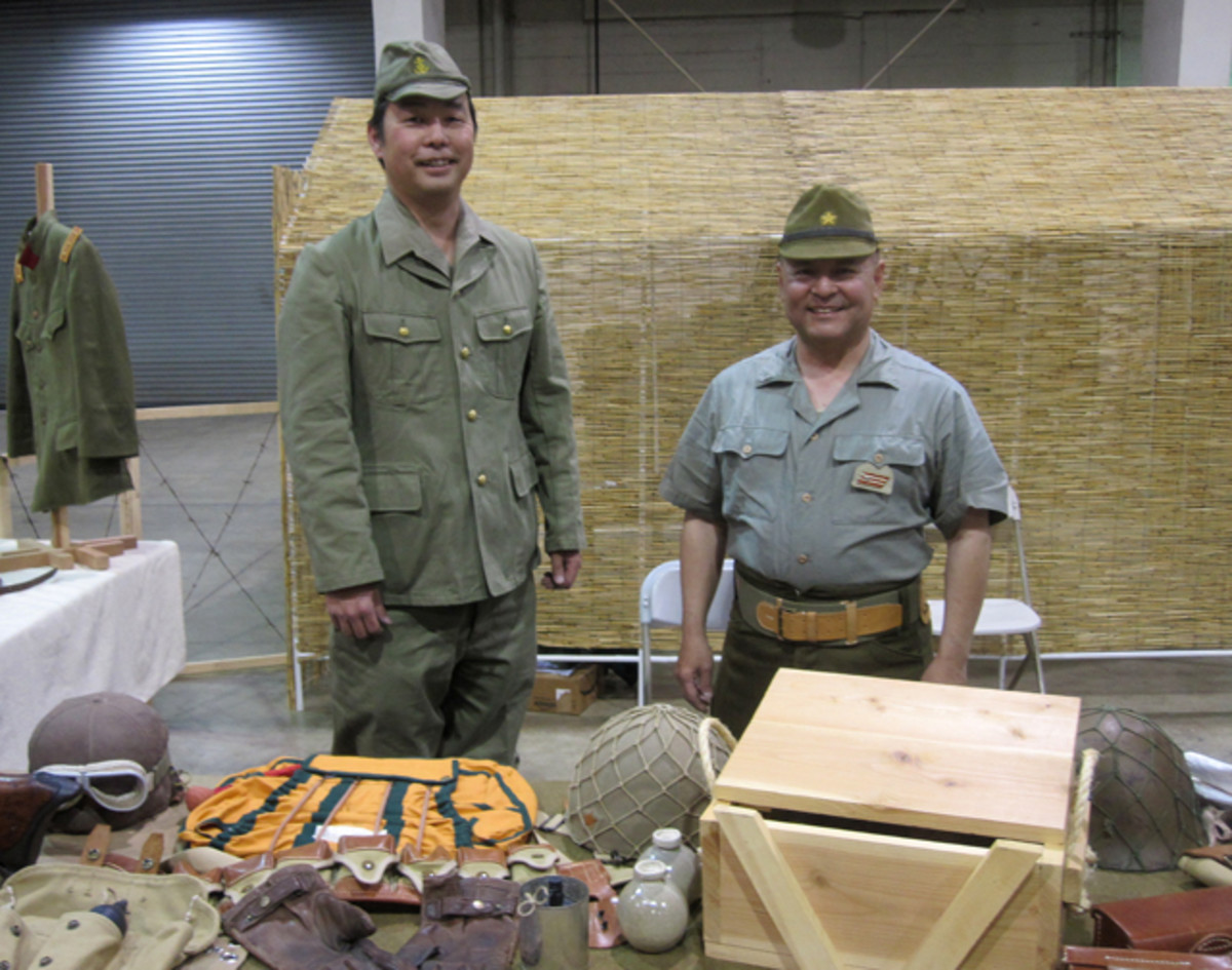 Brian Kinoshima and Russel Nakaishi of the Imperial Japanese Army 2nd Division are part of the California Historical Group. They are dedicated to the living history of the Imperial Japanese Army's 2nd Division from 1871 through WWII.