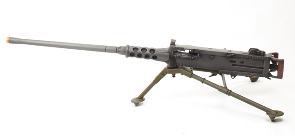 For those who want the look of a gun but aren't interested in simulating fire, a resin .50 caliber such as the ones offered by International Military Antiques passes the five foot test hands down. Photo courtesy of IMA-USA.com