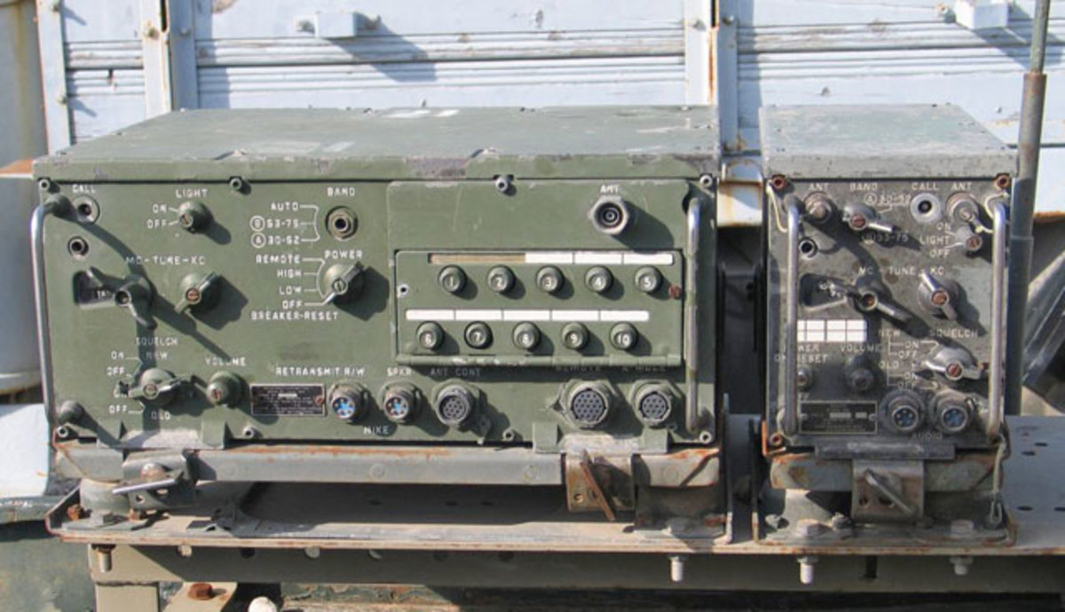 RT-246 receiver-transmitter and R-442 receiver in Yad la-Shiryon Museum, Israel.