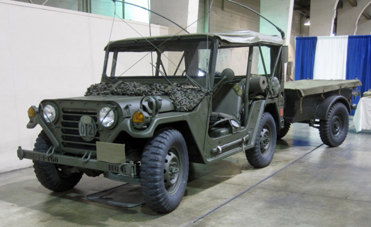 Through the show's historical groups, vehicles like this WWII WLA series motorcycle and a Willys Jeep with trailer, as well as non firing weapons, were featured in displays drawing the curious visitor.