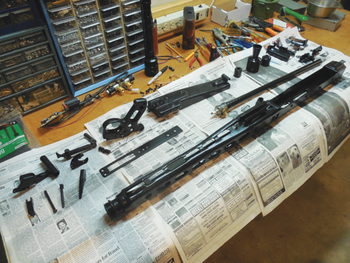 Gas guns also need to be properly maintained and can be more complex than many actual firearms. A disassembled gas gun can be stripped much like a real firearm, and it needs to be cleaned regularly to ensure proper function. Photo courtesy of Steve Smith
