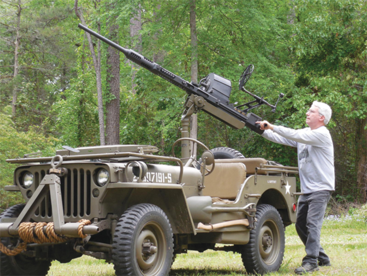 Whether resin, steel, or aluminum, a dummy gun can certainly add to the visual appeal of an historic military vehicle gas gun can be quite impressive! Photo courtesy of Steve Smith