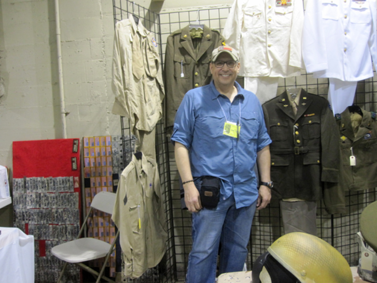Vendor/collector Jaime Longoria who specializes in sewn insignia also had a nice selection of uniforms from WWII to the current War on Terror. Mr. Longoria commented on how he liked seeing a new variety of vendors.