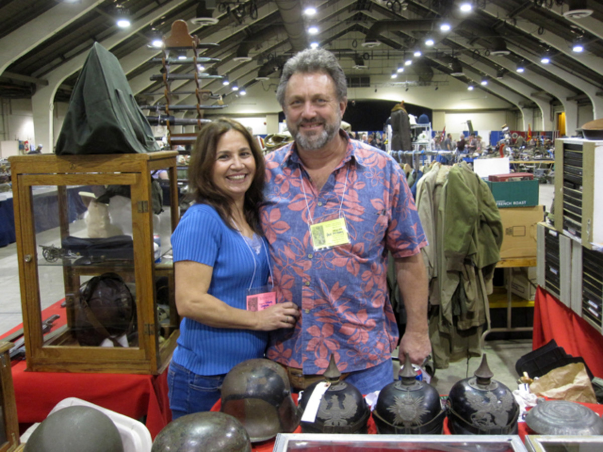 Paul and Vicky Milbury of Military Historical Arms and Antiques have moved to Globe, Arizona, but are still a consistent vendor at the show and suppliers of quality militaria and weapons.