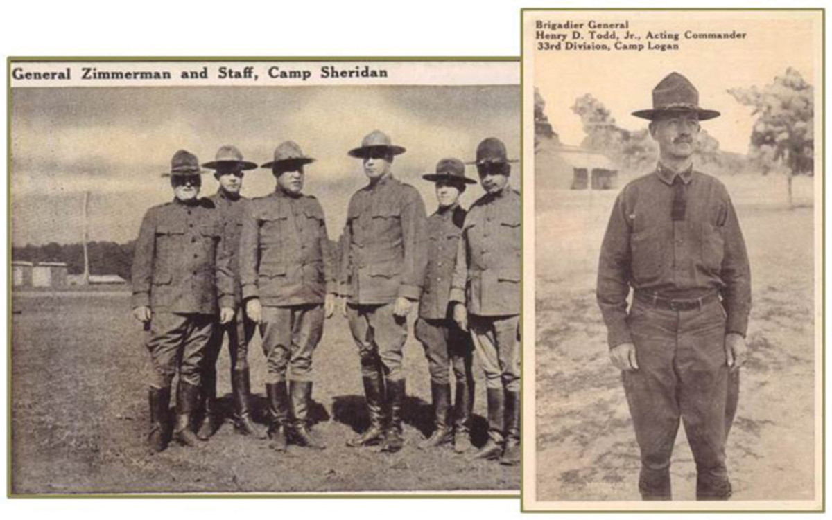 Postcards of camp staffs and general officers make a nice and inexpensive collection to chase.