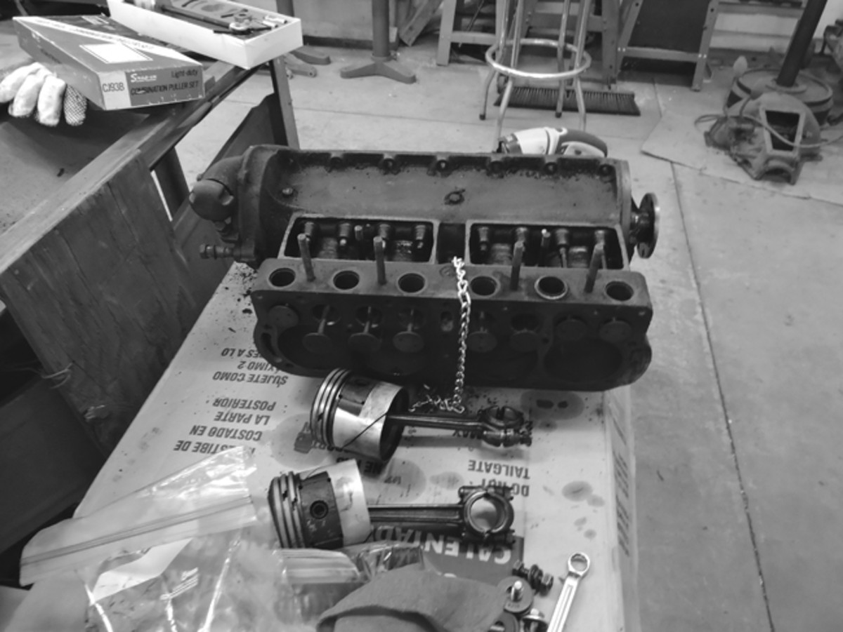 When we discovered that the engine had bent valves, stuck pistons, and broken parts, it was decided it would be easier to replace it than fix it.