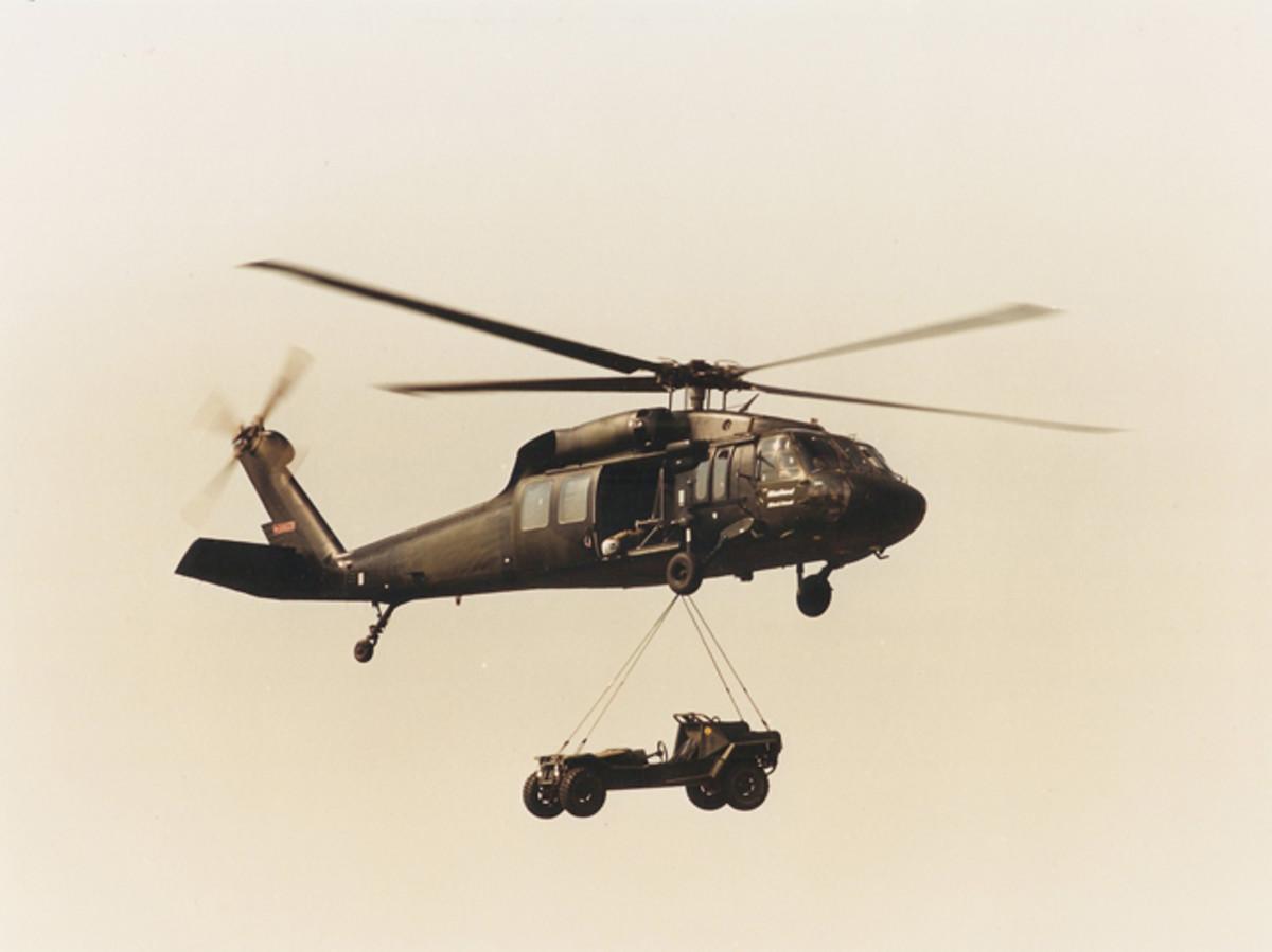 The Saker LRDV carried by a UH-60 Blackhawk