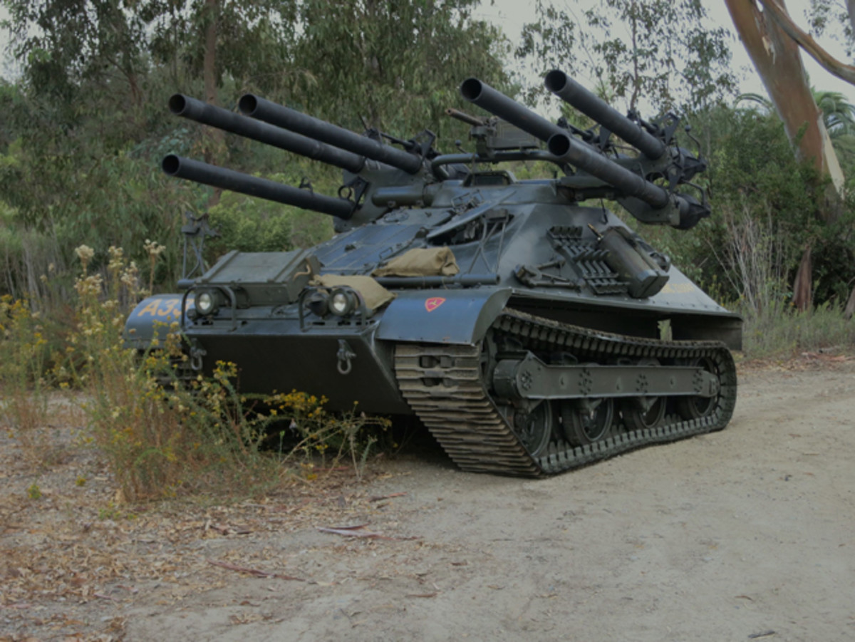 The Marine Corps Mechanized Museum restored this M50 Ontos. Jerry Cook led the project.