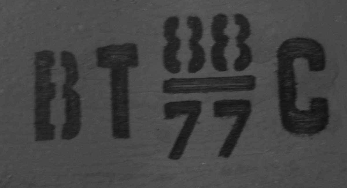 "This indicates the type of powder, and the ""BT"" has lead to some confusion but ""BT"" translates to the Latin ""VT,"" which actually simply means ""винтовочный"" or ""vintovochniy"" – that translates to ""for rifles."" The number on the top ""88"" is the lot number, while the lower number ""77"" again simply indicates that the powder was from 1977. The final letter ""C"" reportedly is the factory where the powder was produced. Online reports suggest it was Кемеровский or Kemerovsk."