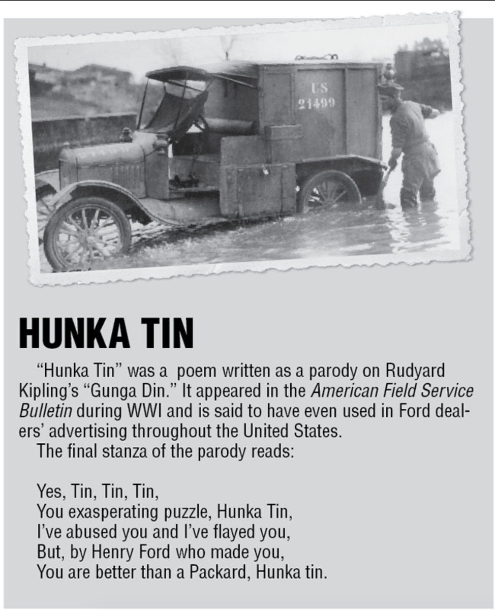 Poem: Hunka Tin