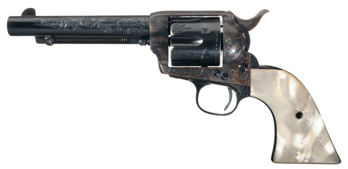 Colt Single Action Army Revolver Documented as Purchased by The Dalton Gang with Mother of Pearl Grips and Factory Letter ($109,250)