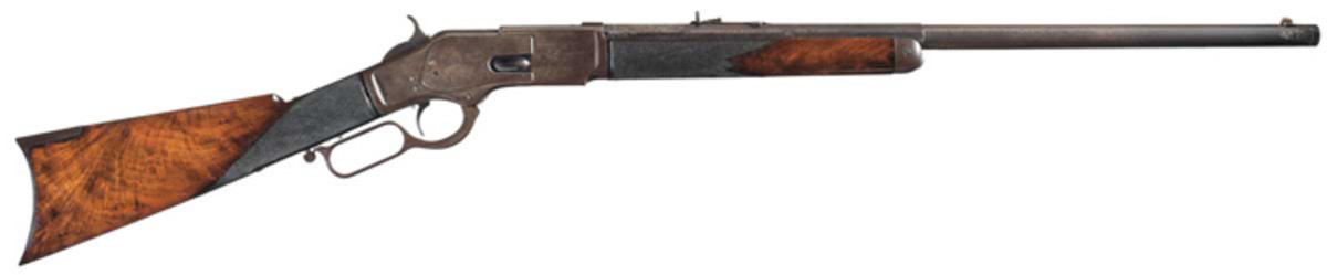 A Factory Documented Winchester Model 1873 Rifle With Rare Half Octagon Barrel ($402,500)