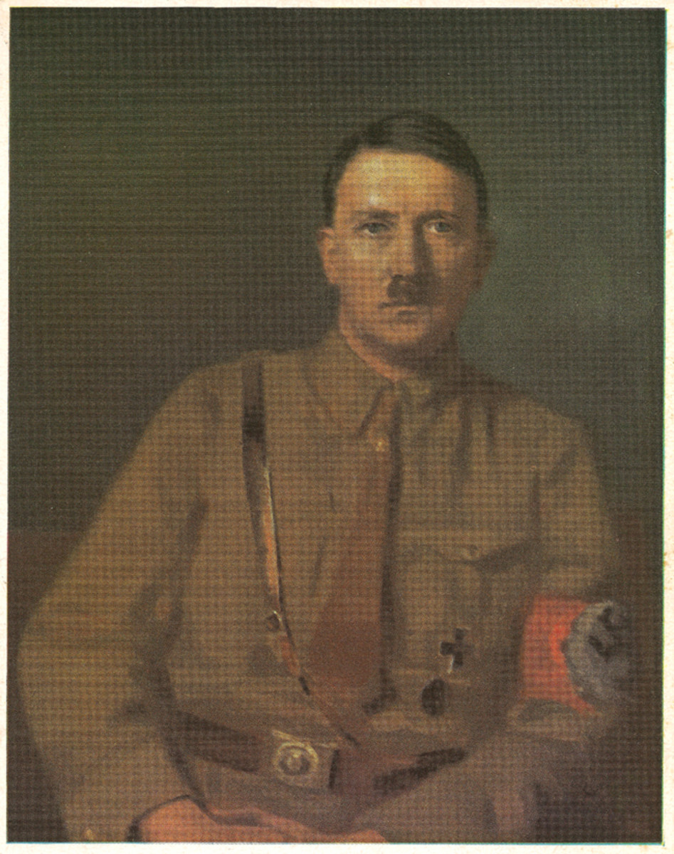 Adolf Hitler's image graced many of the propaganda pieces made popular during the Third Reich.