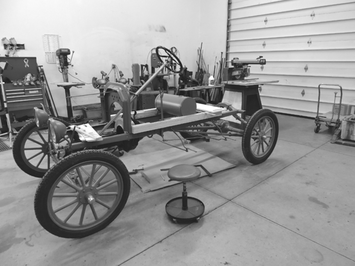 With the chassis taking shape, it was time to start thinking about the body. We would have to put away our automotive tools and take out the woodworking ones!