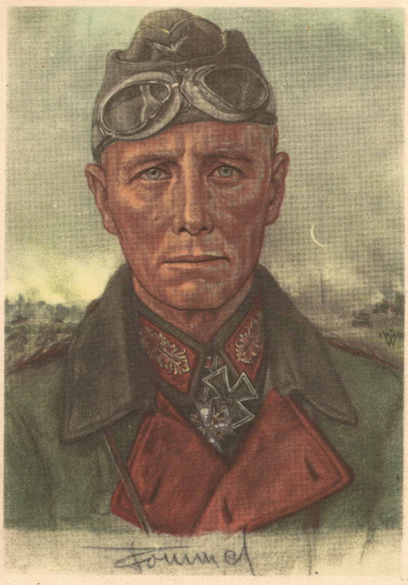 "During WWII, Wolfgang Willrich joined Propaganda-Ersatzabteilung ""Staffel der bildenden Künstler"" and produced portraits of famous officers like Erwim Rommel."
