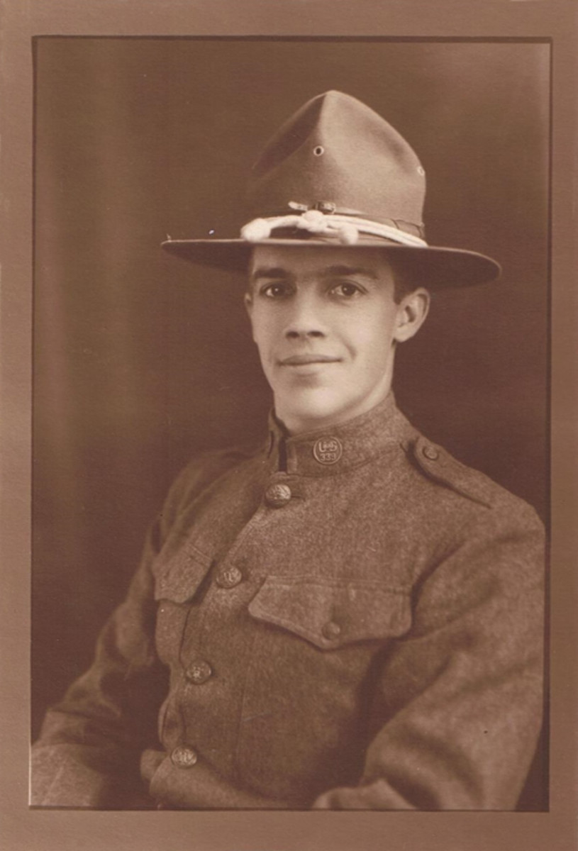 """Glenn L. Niccum, a """"Polar Bear"""" from Detroit who served in North Russia during WWI."""