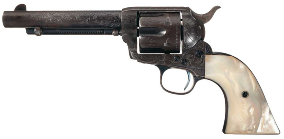 Documented Historic Factory Engraved Black Powder Colt Single Action Army Revolver From the Personal Property of Bob Dalton Documented to Have Been Taken From His Dead Body After The Famous Coffeyville Raid.