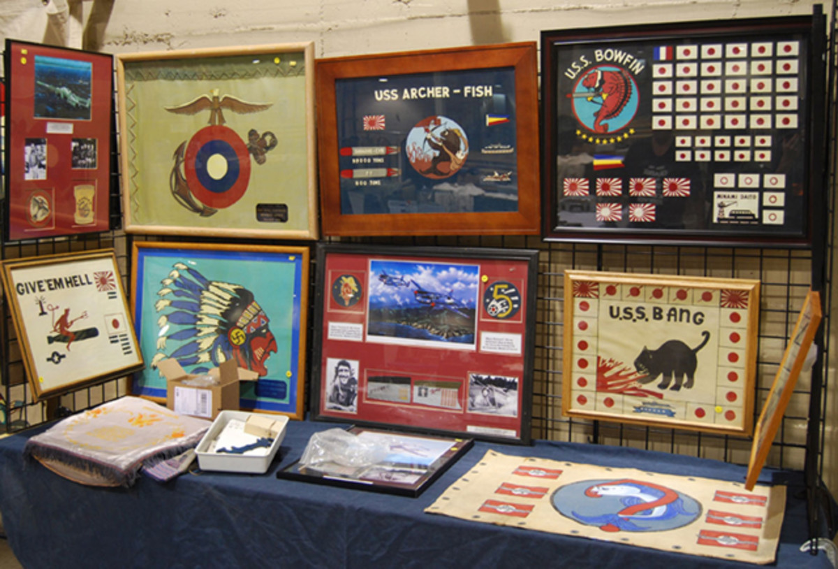 Some original artwork was offered at this year's show - perfect for the 'man cave' or 'war room'.
