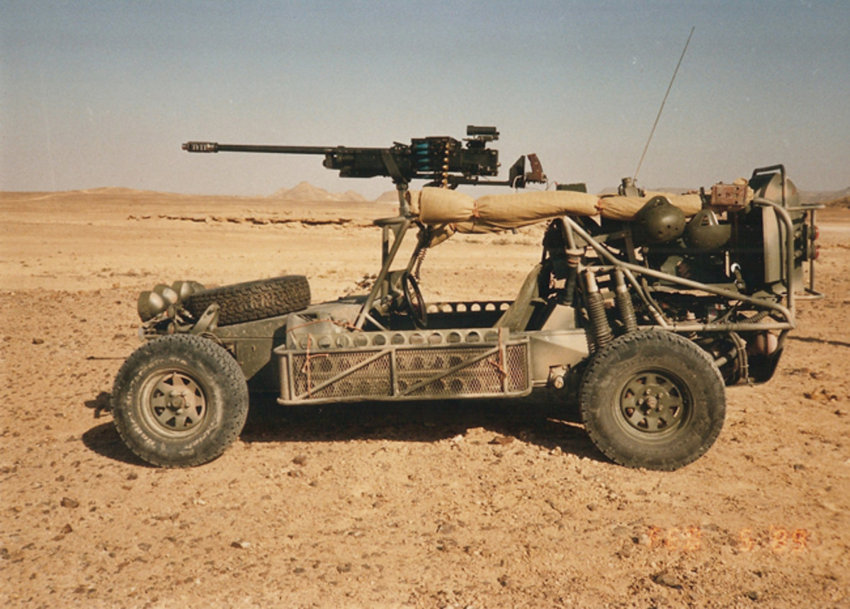 The Saker mounting a heavy .50 inch calibre machine gun.