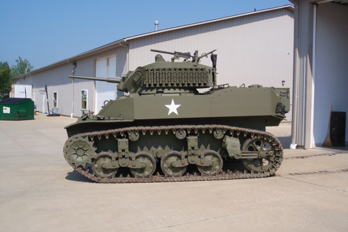 """After acquiring a few other """"smaller"""" historic military vehicles, Dick Maston decided to go """"all-in"""" and acquire a tank. Deciding to start small, he located an M5A1 """"Stuart"""" light tank."""