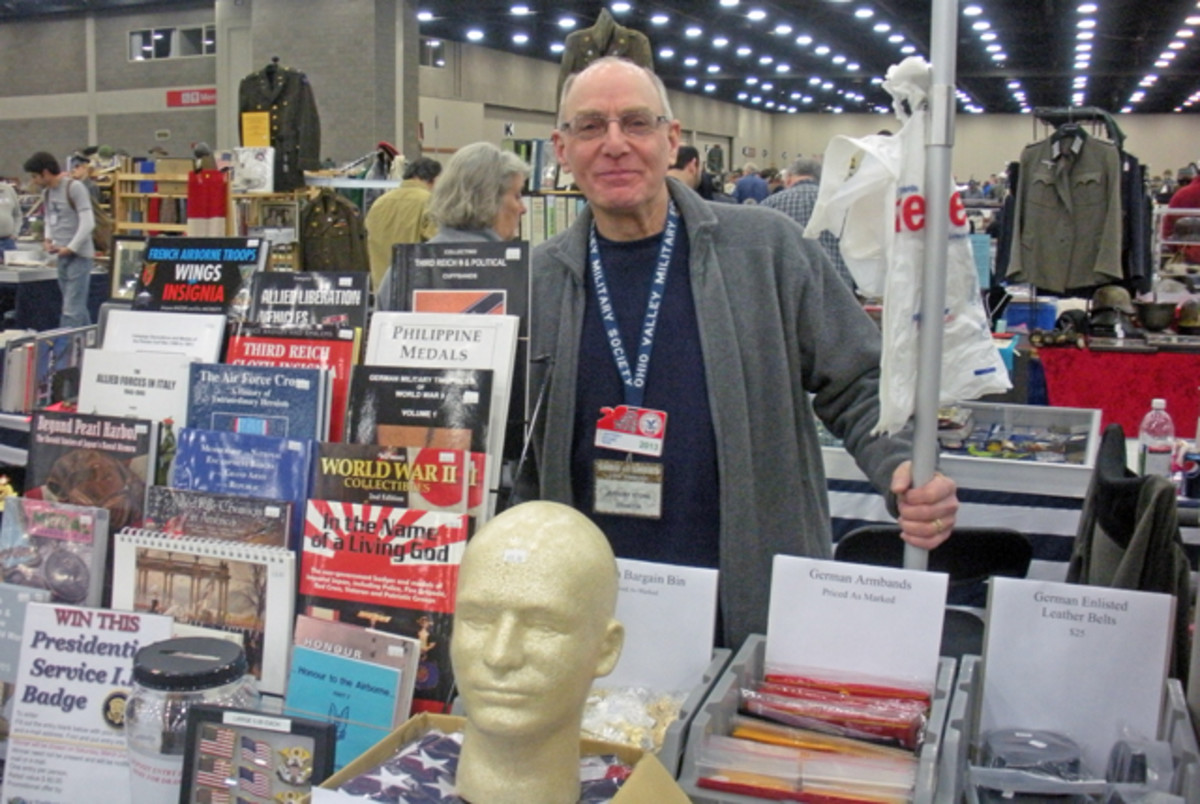 Jeff Stone of Worldwide Military Exchange runs shows in the Chicago area throughout the whole year. The next Glendale Heights Militaria Show is March 10, 2013.