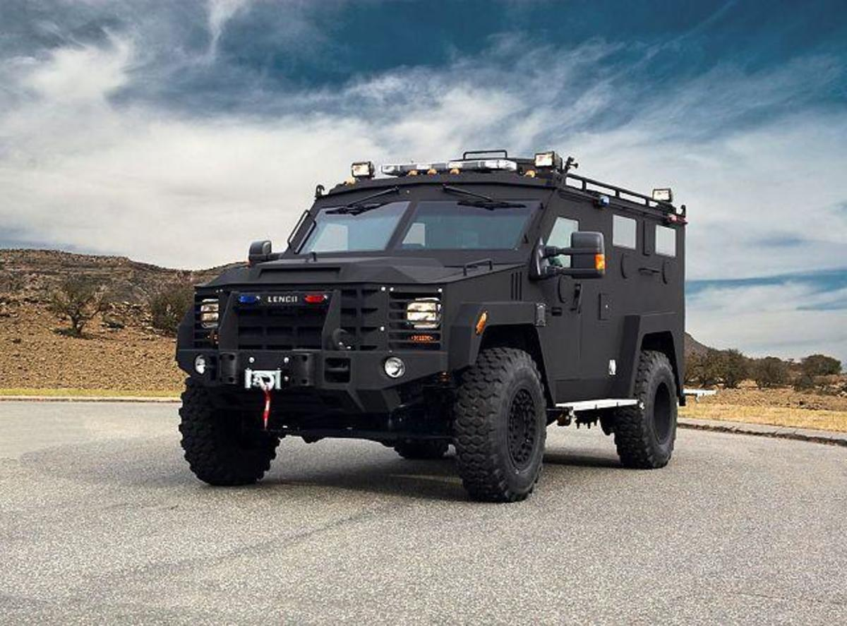 Police used a BearCat armored vehicle of this design to breech the wall of an Orlando nightclub to end a hostage stand-off and massacre. Lenco Armored Vehicles