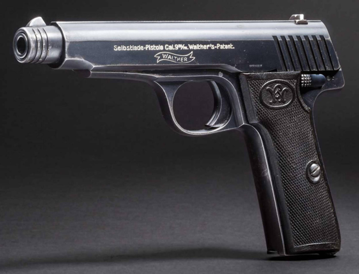Walther Mod. 6, Cal. 9 mm Luger in almost as new condition.