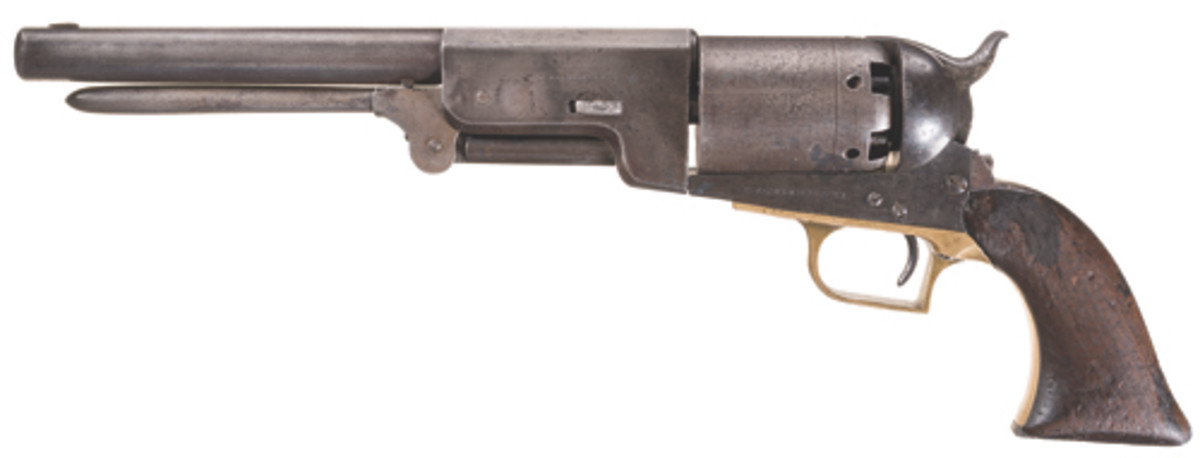 "The historic ""C Company"" Colt Walker contained in lot 1270 reached a price of $172,500."