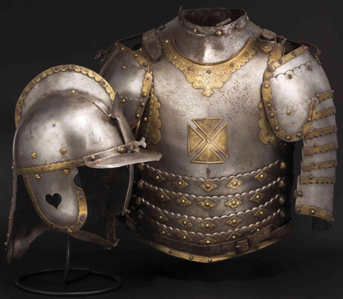 Polish History Museum, Muri: Hussar cuirass, 17th century.