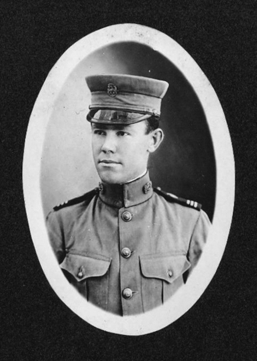 Lemuel E. Boren is seen here in his Philippine Constabulary uniform. Having served in the Spanish American War, Boren joined the Constabulary in 1901 and served for nine years. It is very probable that he acquired the revolver at this time.