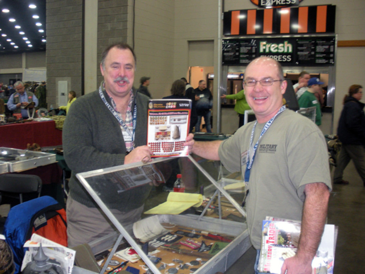 One of our full-page advertisers (who changes up his ad each issue!), Dan Griffin, with Nick Ockwig. JAG has bought a LOT through Dan through the years. Check out Dan's current offerings at: http://griffinmilitaria.com/
