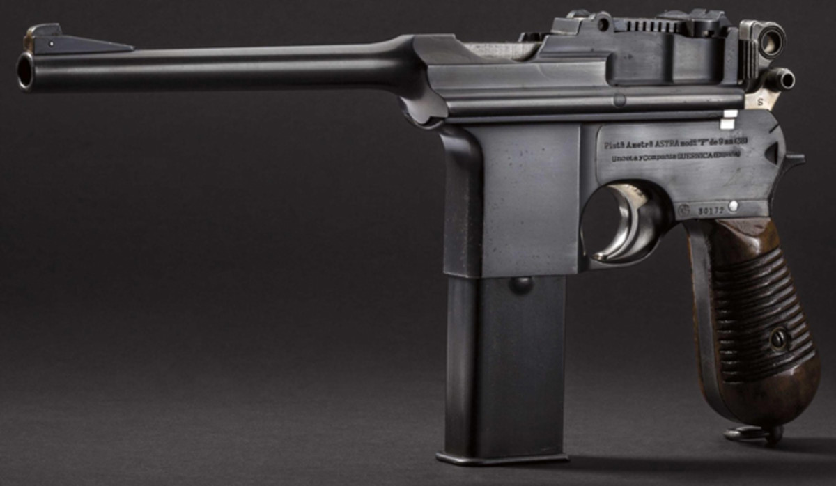 Astra Modell F, Guardia Civil. Kal. 9 mm largo, No 30172.