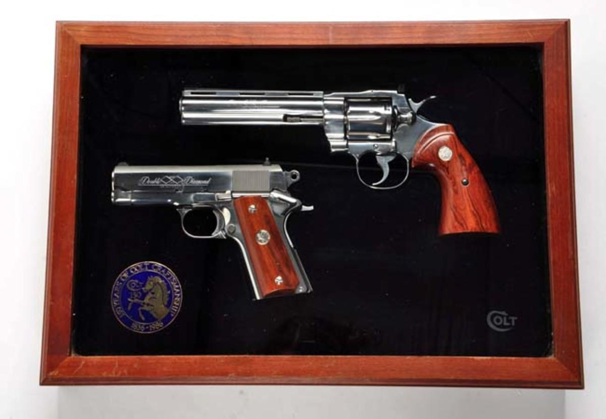 Cased Colt Double Diamond Python/1911